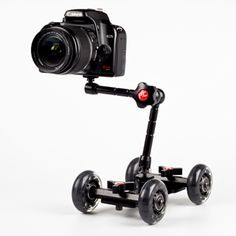 The Camera Table Dolly is a modular tripod on wheels designed to give your videos a smoother, more professional look.