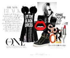 """""""Midnight star outfit"""" by ekaterina-shihantsova ❤ liked on Polyvore featuring Moschino, Yazbukey, Lancôme, outfit and fun"""