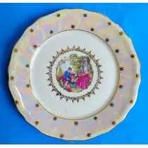 Prato Decorativo Porcelana Steatita Borda Furta Cor