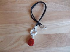 Red Onyx drop chainmaille pendant £8.00