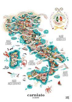 Mapa turístico de Italia
