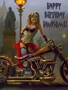 Afbeeldingsresultaat voor happy birthday sexy motorbike