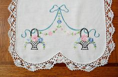 Vintage Embroidered Cotton Table Runner / by estatesalegems