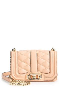 Crushing on this cute apricot Rebecca Minkoff crossbody bag.
