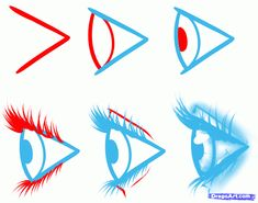 How to draw eyes side view step by step easy