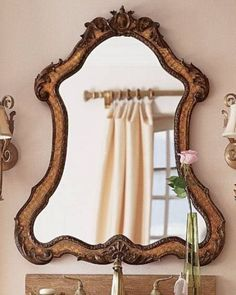 FRENCH ORNATE Queen Anne Arch WALL MIRROR Arched Art Nouveau NEW