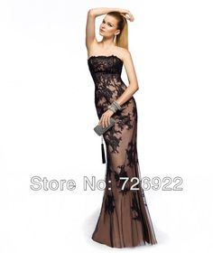 Cheap gown evening dress, Buy Quality dress patterns evening gowns directly from China dress evening gowns Suppliers: Strapless Sheath Appliques Tulle Champagne Formal Evening Dress Prom Gowns With Fast Delivery High Quality Free Shipping