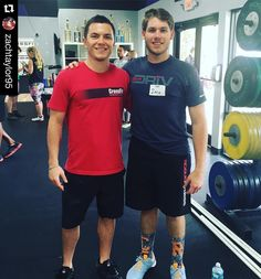 Heyyy that shirt looks familiar! What an awesome community CrossFit has! Zach dropped in to @drivfitness a little bit ago...little did he know he'd run into Coach Todd instructing his Level 1 Seminar a few weeks later!  Via: @zachtaylor95  One of the best weekends I've had! Todd owns the box I did a drop in class a few weeks ago. Didn't know he would be one of the instructors for my crossfit training. As I'm wearing his box's shirt! #crossfitcommunity #level1seminar #crossfit #smallworld by…