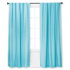 Twill Light Blocking Curtain Panel - Pillowfort™ : Target Turquoise Curtains, Turquoise Bedding, Turquoise Home Decor, Blue Curtains, Window Curtains, Target Curtains, Light Blocking Curtains, Window Panels, Curtain Panels