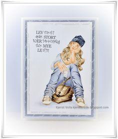 Kjersti's side Copics, Copic Markers, Funny Cards, Leo, Scrap, Baseball Cards, Cover, Indigo, Books