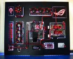 My first Custom wall mount! Unsponsored! Check it out! - Red Radium http://www.overclock.net/t/1557787/wall-mount-red-radium