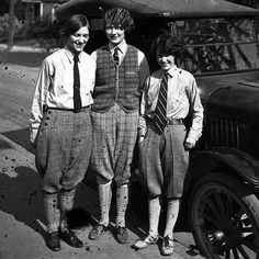 Young women dressed in men's fashion, c.1920s