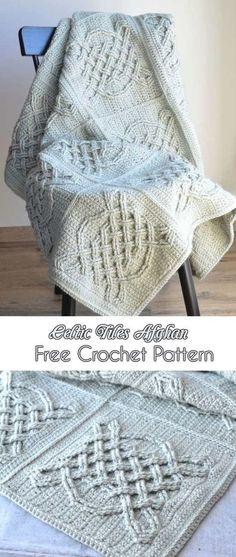 Irish Weave Crochet Stitch Celtic Aran Afghan Pattern Crochet