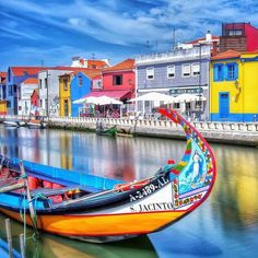 Aveiro, Portugal by Check the artists feed for more great images Places In Portugal, Porto Portugal, Visit Portugal, Spain And Portugal, Portugal Travel, Portugal Trip, Learn Brazilian Portuguese, Portuguese Culture, Roadtrip
