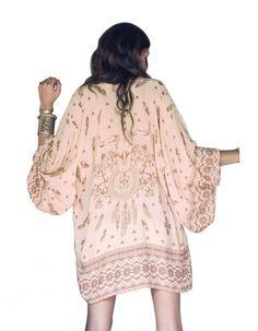 Steerhead feather kimono