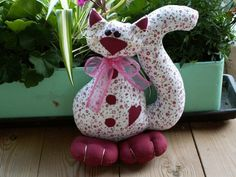 šavi patchwork - Fotoalbum - 1) Moje šití (My handworks) - Kočky, zvířátka a hračky (Cats and toys) - Kočka Růženka