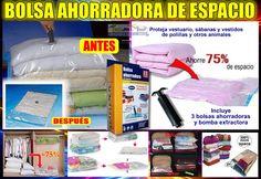 Bolsa Ahorradora De Espacio Caja Con 3 Unid. Y Tamaños+bomba - $ 15.990 en MercadoLibre