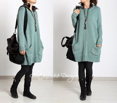 Loose+Fittng+Sweater+Knited+Maxi+Dress+Long+Blouse+by+clothnew88,+$65.99