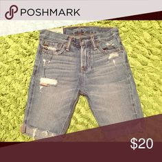 Boys jean shorts ❤️ Abercrombie boys shorts. Lightly distressed look, look brand new, barely worn from gently used and smoke free home! abercrombie kids Bottoms Shorts