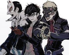 vs series x - Mi Hermoso Mundo Persona Five, Persona 5 Memes, Persona 5 Anime, Persona 5 Joker, Shin Megami Tensei Persona, Akira Kurusu, Ryuji Sakamoto, Fan Art, Anime Art