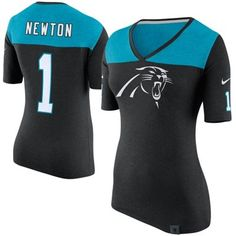 Nike Carolina Panthers Cam Newton Women s Black Starters Only Name and  Number T-Shirt 96eee7551