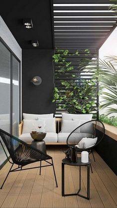 Apartment Balcony Decorating, Apartment Balconies, Furnished Apartment, Apartment Interior, Apartment Living, Home Furniture, Outdoor Furniture Sets, Balcony Furniture, Balkon Design