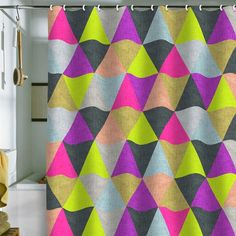 I pinned this Bianca Green Ocean Of Pyramid Shower Curtain from the Bianca Green event at Joss and Main!