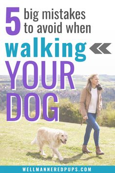 These dog walking tips are good to know (especially for new dog owners). Be sure to avoid these mistakes and learn what to do instead.