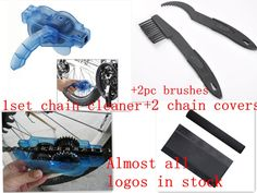 5pc/Lot Electric Bicycle Accessories Bike Chain Cleaner+Cycling Clean Brushes+cycle Chainstay Protector MTB bicycle chain cover