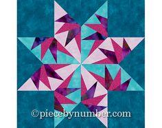 Courtepointe étoile-de-faucon bloc motif par PieceByNumberQuilts