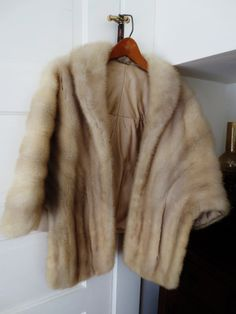 Vintage Fifties Mink Fur Stole Womens Lined by OberonsLamps, $235.00