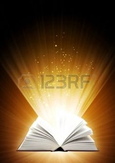 Vertical background of brown color with magic book photo