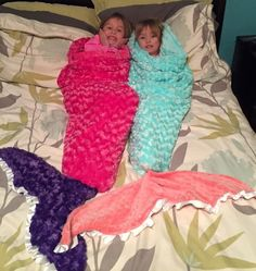 Mermaid Tail Blanket-Pink Purple Coral Turquoise- MINKY- Ships out in 1-3 days- customize your fabrics by tarascozycreations on Etsy https://www.etsy.com/listing/266328978/mermaid-tail-blanket-pink-purple-coral