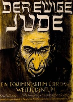 This anti-Semitic poster is, I think, in Russian. The best I can ...