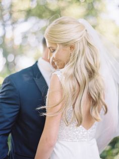 half-up bridal hair | photography by http://www.kristinlavoiephotography.com