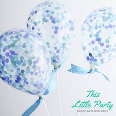 A personal favourite from my Etsy shop https://www.etsy.com/au/listing/385030636/blue-confetti-balloon-party-kit-cute