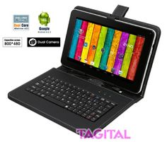 "Tagital® 9"" Android 4.2 Tablet PC Capacitive Touch Screen A13 1.5GHz Dual Camera Bundle Keyboard - Specification:   Display: 9″ Capacitive screen, 800×480 pixel Product Size:9.4″x 5.8″ x 0.51″ Weight :17.36 ounces Operating System: Android 4.2 CPU: All Winner A13, Cortex A8 at 1.2GHz GPU: Mali 400 RAM: 512MB Storage: 8GB internal (approximately 6GB available for ... - http://buytrusts.com/giftsets/2015/10/26/tagital-9-android-4-2-tablet-pc-capac"