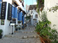 small streets in Kusadasi, Turkey