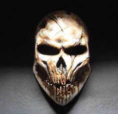 Haunting Gamer Helmets - Become a Demonic Monster with these Paintball Mask Designs (GALLERY) Army Of Two, Haunted Games, Crane, Paintball Gear, Totenkopf Tattoos, Cool Masks, Awesome Masks, Creepy Masks, Airsoft Helmet