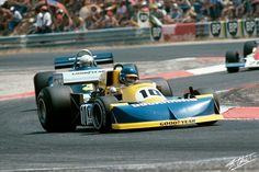Ronnie Peterson in the 1976 French Grand Prix.