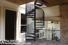 Spiral stairs on #houseplan 36850JG to go your rooftop observation deck
