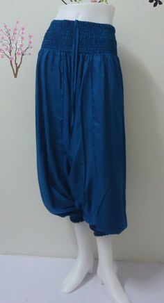 Hey, I found this really awesome Etsy listing at https://www.etsy.com/listing/195260831/blue-harem-pant-ali-baba-aladin-yoga