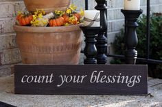 Count Your Blessings Painted Wood Sign | Signs by Andrea - 25% off through November 11, 2014!