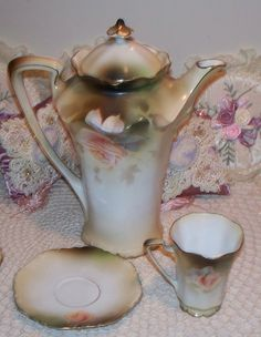 She had a Prussia Chocolate Pot Set very similar to this