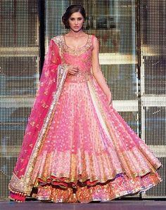 Looks like a Manish Malhotra Lehenga Manish Malhotra Lehenga, Lehenga Anarkali, Heavy Lehenga, Brocade Lehenga, Ghagra Choli, Indian Lehenga, Anarkali Suits, Pink Bridal Lehenga, Pink Lehenga