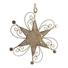 Star Suncatcher Ornament Capiz Shell W Gold Metal Scrollwork Hand Crafted (Natural) The Crabby Nook http://www.amazon.com/dp/B009WW0J6M/ref=cm_sw_r_pi_dp_b6cNub0C5G9CD