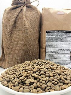 5-pounds - Ethiopia Yirgacheffe - Green Unroasted Whole Coffee Beans - In a Burlap Bag - For Home Coffee Roasters - by Smokin' Beans Coffee Co. - http://coffeecenter.org/5-pounds-ethiopia-yirgacheffe-green-unroasted-whole-coffee-beans-burlap-bag-home-coffee-roasters-smokin-beans-coffee-co/