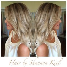 Beautiful Beige sombre hair. This look is between an ombré and balayage look. By Shannon Keel at The Hair Parlor Lee,FL