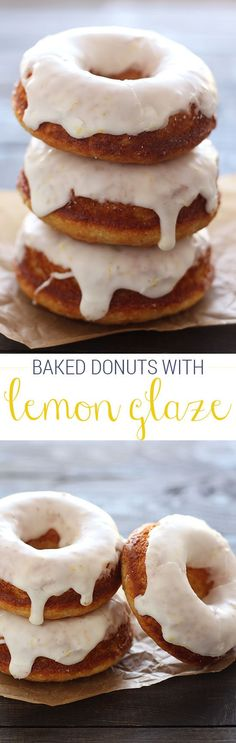 Easier and healthier than fried 30 minute recipe! These are ADDICTING! The post Easier and healthier than fried 30 minute recipe! These are ADDICTING! appeared first on Dessert Platinum. Fried Doughnut Recipe, Baked Donut Recipes, Baked Doughnuts, Baking Recipes, Donut Muffins, Brunch Recipes, Sweet Recipes, Dessert Recipes, Brunch Ideas