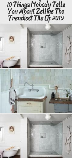 10 Things Nobody Tells You About Zellige, The Trendiest Tile Of 2019 - Rustic Farmhouse Ideas Kitchen Tiles, Terracotta Tiles, San Francisco Design, Painting Kitchen Cabinets, Remodel, Vintage Kitchen, Cle Tile, White Rooms, Weathered White